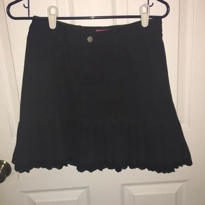 Black casual ruffle shirt
